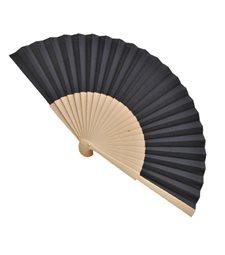 Ventaglio legno e tessuto colore unito nero art. CORALLO NERO