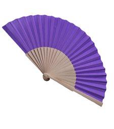 Ventaglio legno e tessuto colore unito viola art. CORALLO VIOLA