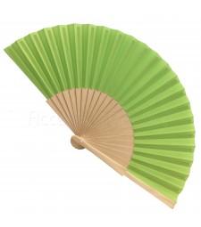 Ventaglio legno e tessuto colore unito v.Fluo art. CORALLO V.FLUO