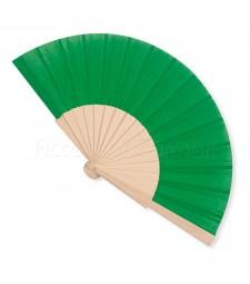Ventaglio legno e tessuto colore unito verde art. CORALLO VERDE