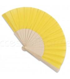 Ventaglio legno e tessuto colore unito giallo art. CORALLO GIALLO