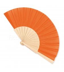 Ventaglio legno e tessuto colore unito arancio art. CORALLO ARANCIO