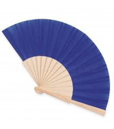 Ventaglio legno e tessuto colore unito blu art. CORALLO BLU