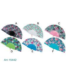 Ventaglio plastica fantasia floreale 15442